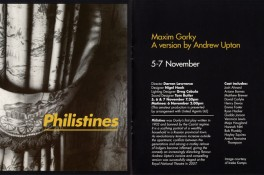 Philistines - Play - Booklet